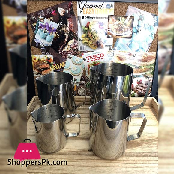 Stainless Steel kitchen Coffee Frothing Milk Tea Latte Jug 1500-ML