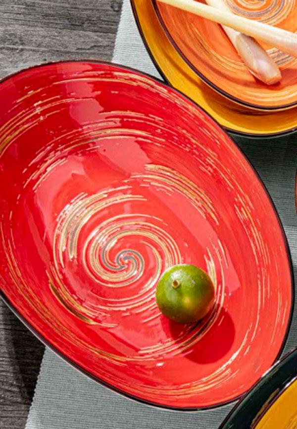 Wilmax Fine Porcelain Oval Bowl 9.75 x 6.5 x 2.5 Inch WL-669240 / A