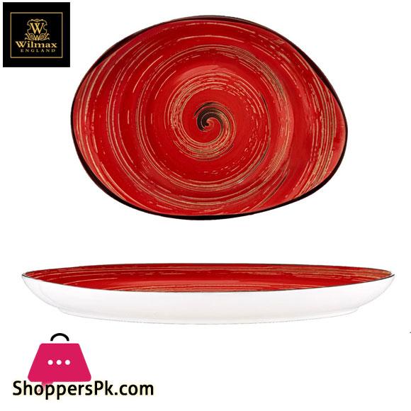 Wilmax Fine Porcelain Stone Shape Dish 13 x 9.75 Inch WL-669242 / A