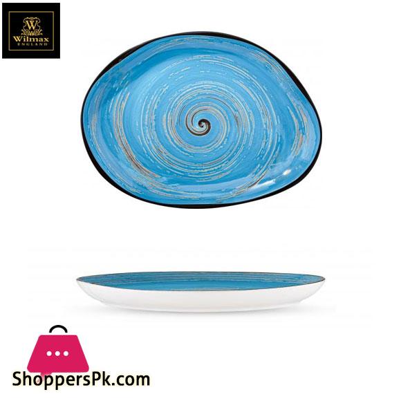 Wilmax Fine Porcelain Stone Shape Dish 13 x 9.75 Inch WL-669642 / A