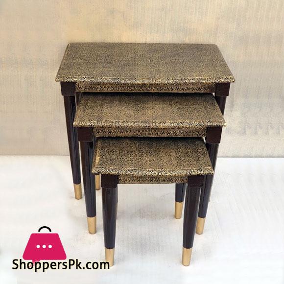 Wood Nesting Table Set of 3