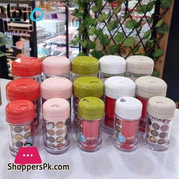 Zibasazan Crystal Spice Salt Pepper Shaker Bottle - 1 Pcs Iran Made
