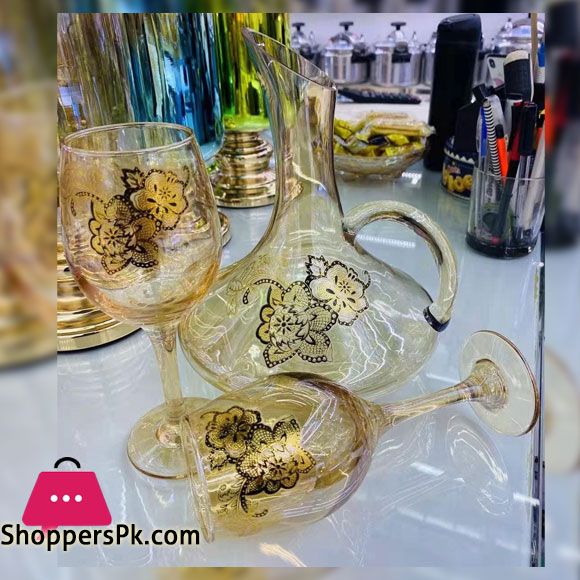 Glassware High Quality GoldEN Water Set