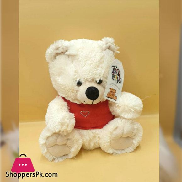 ZIQI Teddy Bear With RED Jacket 10 Inch