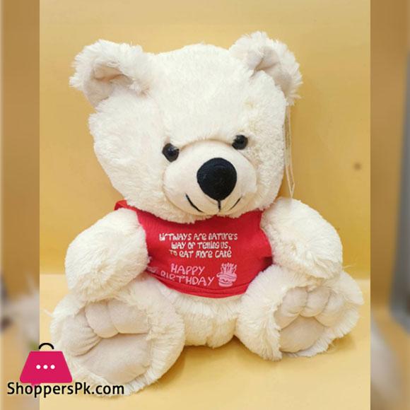 ZIQI Teddy Bear With RED Jacket 12 Inch