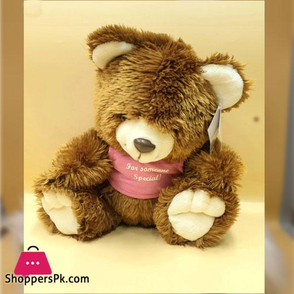 ZIQI Teddy Bear Brown lilac Pink 12 Inch