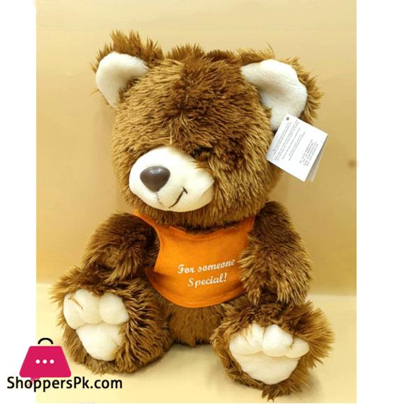 ZIQI Teddy Bear Brown lilac Orange 12 Inch