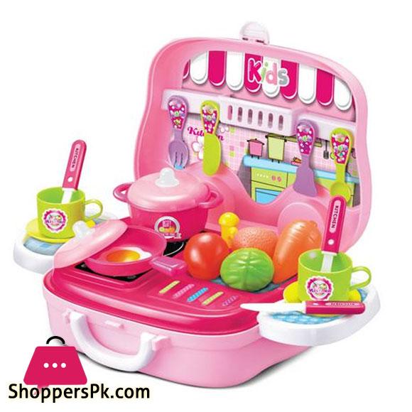 Toy Chef Children Portable Mini Toy Kitchen Set PRICE IN PAKISTAN
