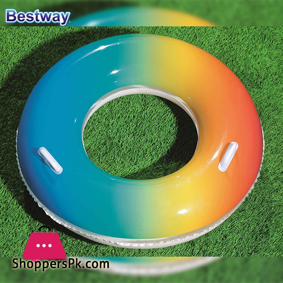 Bestway Rainbow Swimming Ring Age 10+ 36 Inch - 36126