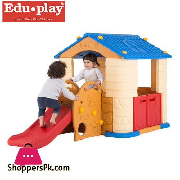 Edu Play Play House 3 with Slide Coral - PH-SL7338