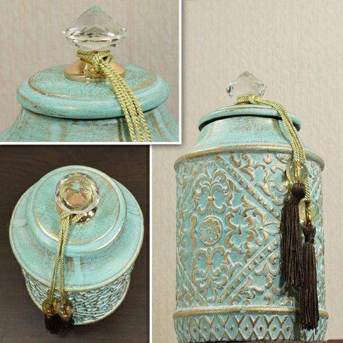 Elegant Western-Style Interior Mahdi Decorative Jar 12 Inch