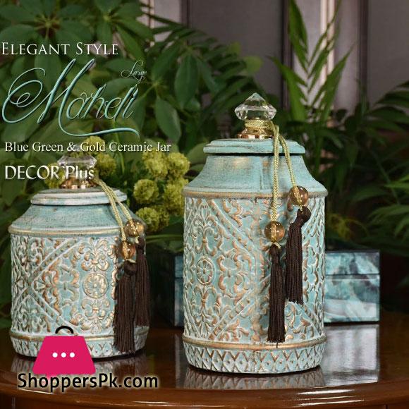 Elegant Western-Style Interior Mahdi Decorative Jar 10 Inch