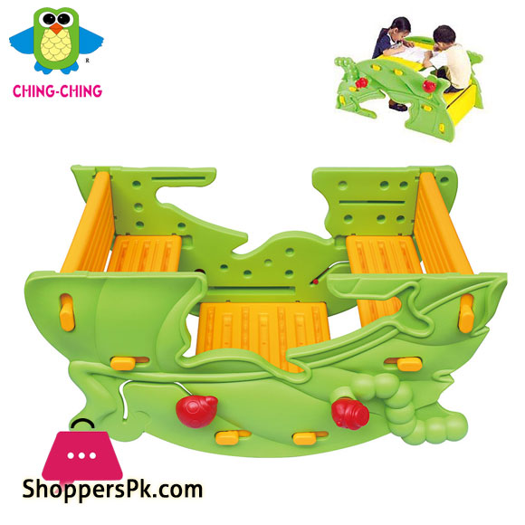 Kids 2 in 1 Dolphin See Saw & Leaf Table (Ching Ching) FU-17