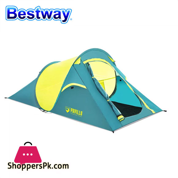 Pavillo Cool Quick Tent Camping Outdoor 2 Person Pop Up Tent Waterproof for Travel Hiking or Garden - 68097