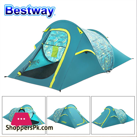 Pavillo Cool Rock Tent Camping Outdoor 2 Person Pop Up Tent Waterproof for Travel Hiking or Garden - 68098