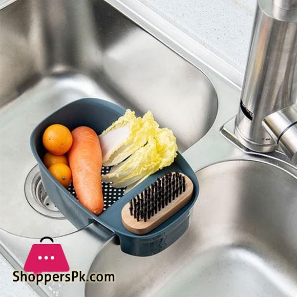 Saddle-Shaped Corner Storage Rack Sink Strainer Basket