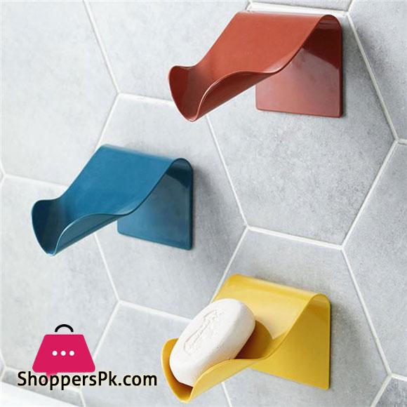 Soap Holder Box Wall Mounted Free Hanging Rack Holder Self Drain
