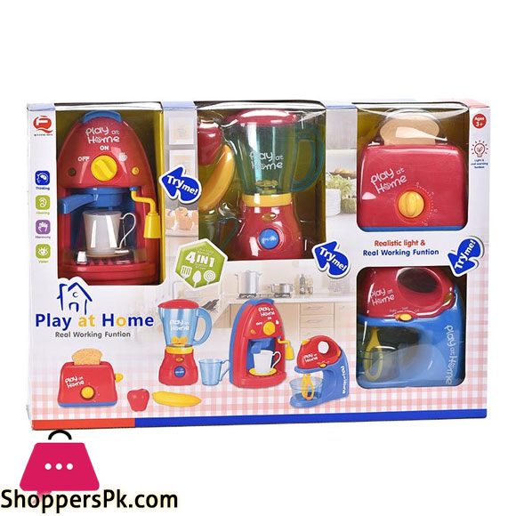 Coffee Maker Kitchen Toy Set Realistic Flashing Lights Music Kids Home Play set Pretend Play Toy