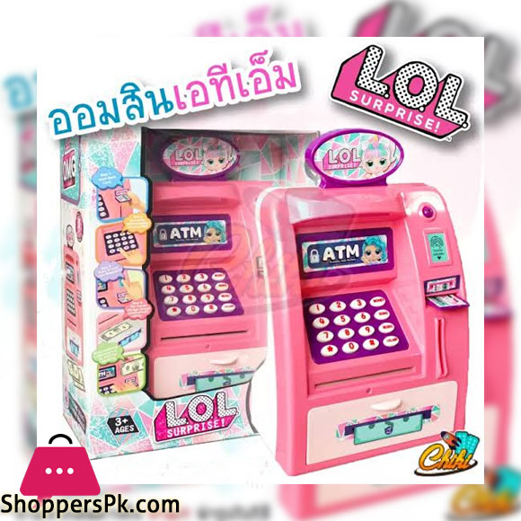 ATM LOL piggy bank with password Can actually deposit money Both banks and coins