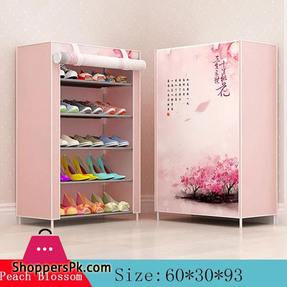 6-Layer 5-Grid Non -Woven Fabric Shoe Rack Dust -Proof