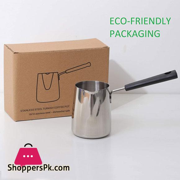 Kofitee (18/8) Stainless Steel Turkish Coffee Pot Milk Warmer, Butter Melting Pot (600 ml)