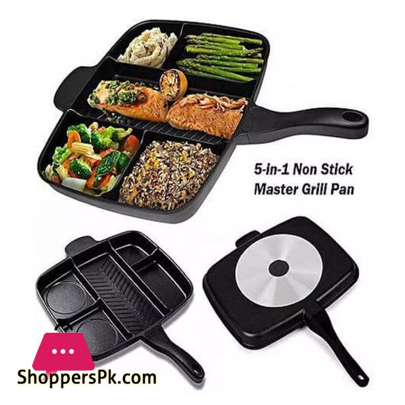 Multi Section 5 In 1 Non Stick Master Frying Pan