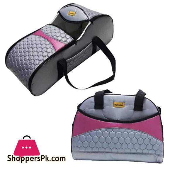 Rain Baby Lux Quilted Carry Cot Honeycomb Pattern Baby Carrier Set of 2