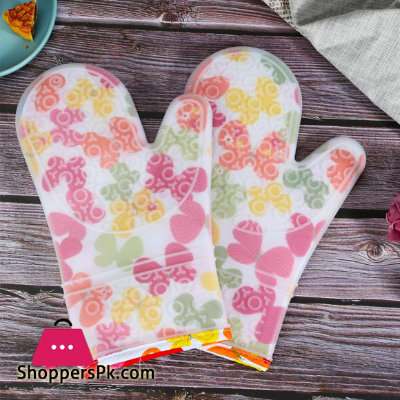Silicone Oven Mitts Heavy Duty Cooking Gloves, Kitchen Heat Resistance Oven Gloves, Waterproof Oven Mitts with Non-Slip Textured Grip, 1 Pcs