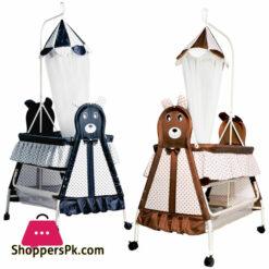 Bambino Bear Moon N Bear Baby Cradle - High Quality Fancy Gift Baby Sleeping Cot - 877