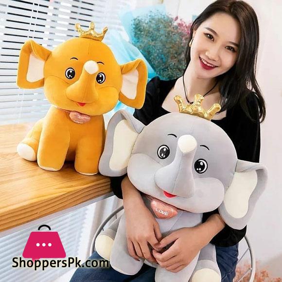 Crown Elephant Plush Toy 16 Inch
