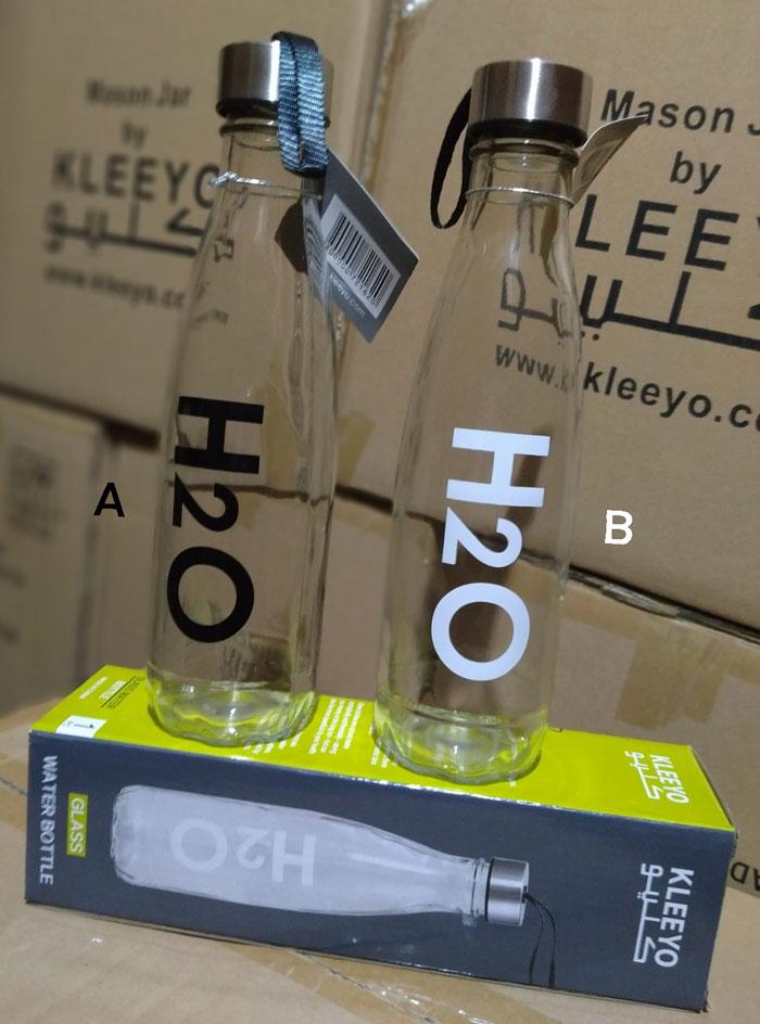 KLEEYO GLASS WATER BOTTLE 580ML - C0009