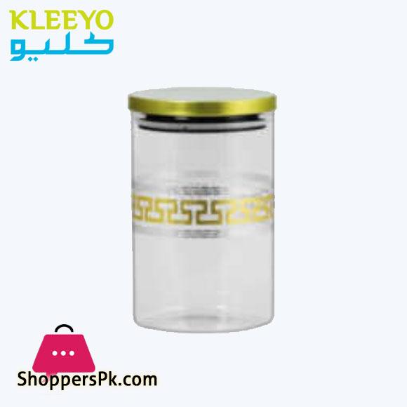 KLEEYO STORAGE JAR GLASS 1000ML - G0002S