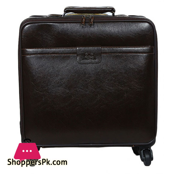 LAPTOP TROLLEY BAG LEATHER TEXTURE