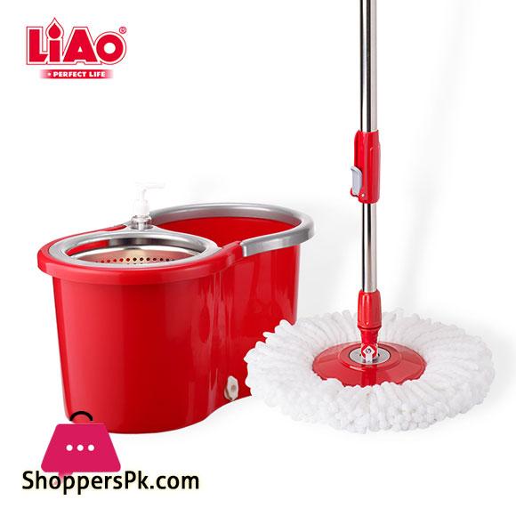 LIAO Mop and Bucket Set 360 Spin Tornado Mop T130016