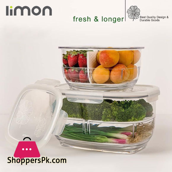Limon Refrigerator Storage 2 Section Jar - 1.8Liter