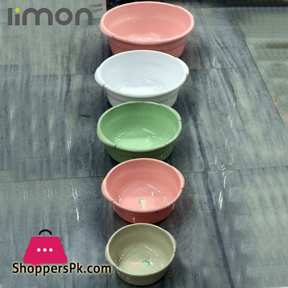 Limon Round Basin Tub Set of 5