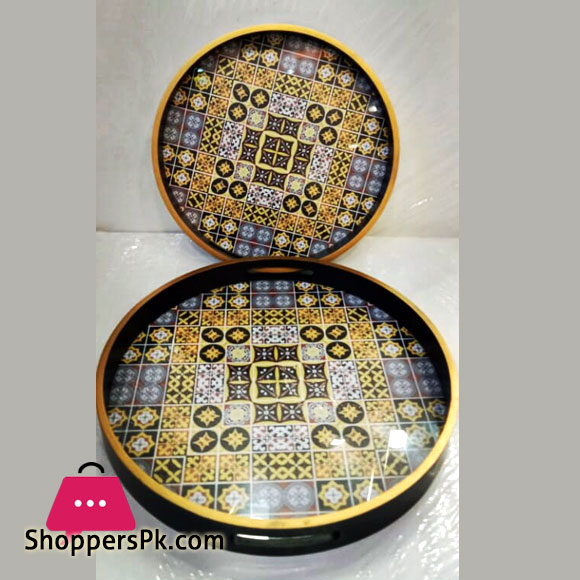 Pearl Serving Tray Set 2 Pieces Octagonal 296S13