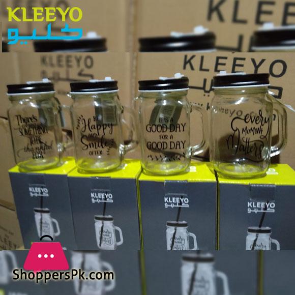kleeyo Mason Jar Blacky 450ML - D1934