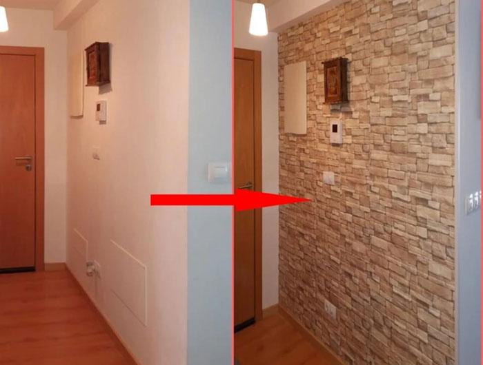 Pvc 3D Foam Brick Wall Panel 77 x 70 CM 1 - Pcs