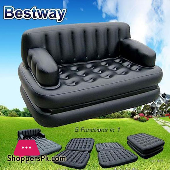 Bestway 5 in 1 Sofa Cum Bed Inflatable Sofa Air Bed Couch #75054