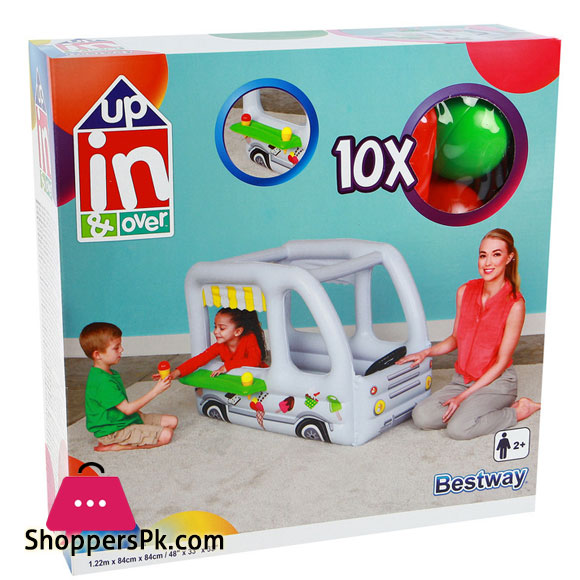 Bestway Inflatable Play House Play Tent Ice Cream Truck With Balls #52268
