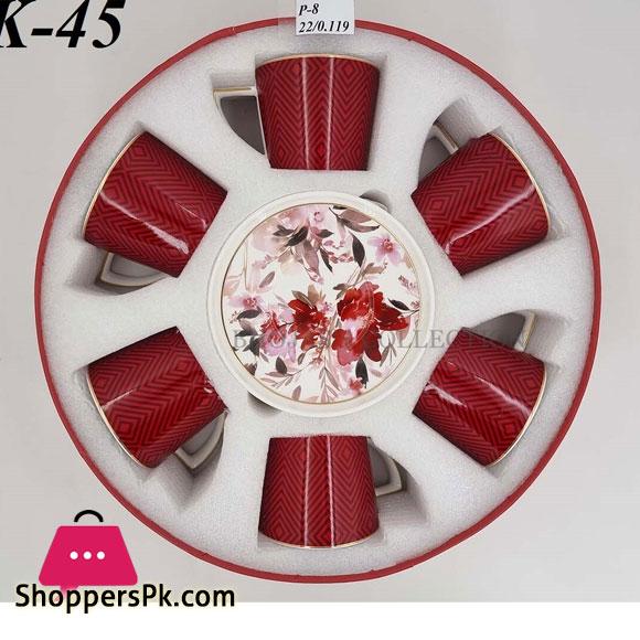 MK45 Cup Saucer Set Red Angela
