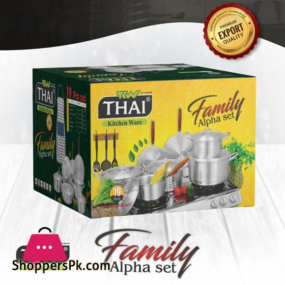 Thai Alpha Superior Quality Aluminium Cookware Set of 19